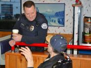 Photo of Sergeant Miltich at a Coffee with a Cop event
