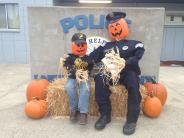Photo of the SHPD entry into the 2015 Spirit of Halloweentown Scarecrow Contest